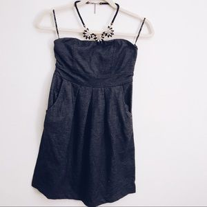 Dresses & Skirts - Denim inspired mini strapless dress